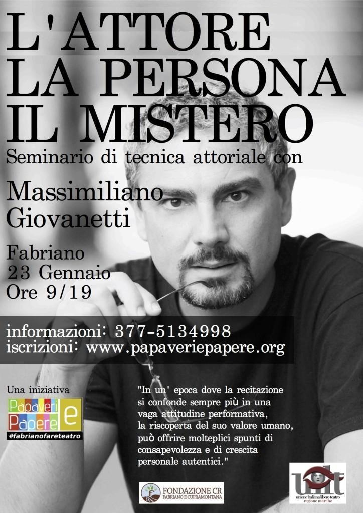seminario con Massimiliano Giovanetti